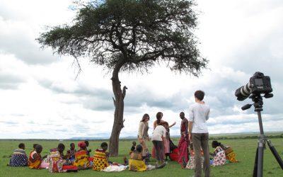 Sesión de moda en Kenia